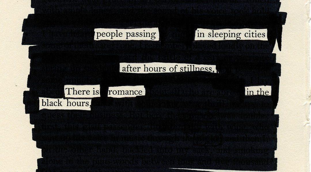 """Blackout poetry – """"Задраскана поезия"""""""