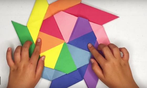 Как да си направим цветен, движещ се, хартиен шурикен?